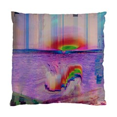 Glitch Art Abstract Standard Cushion Case (two Sides) by Simbadda