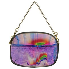 Glitch Art Abstract Chain Purses (two Sides)  by Simbadda
