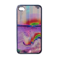 Glitch Art Abstract Apple Iphone 4 Case (black) by Simbadda