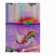 Glitch Art Abstract Large Garden Flag (two Sides) by Simbadda