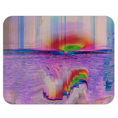 Glitch Art Abstract Double Sided Flano Blanket (medium)