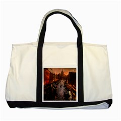 River Venice Gondolas Italy Artwork Painting Two Tone Tote Bag by Simbadda