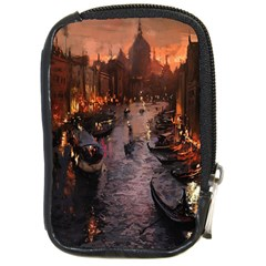 River Venice Gondolas Italy Artwork Painting Compact Camera Cases by Simbadda