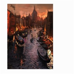 River Venice Gondolas Italy Artwork Painting Large Garden Flag (two Sides) by Simbadda
