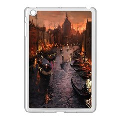 River Venice Gondolas Italy Artwork Painting Apple Ipad Mini Case (white) by Simbadda