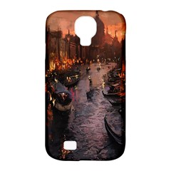 River Venice Gondolas Italy Artwork Painting Samsung Galaxy S4 Classic Hardshell Case (pc+silicone) by Simbadda