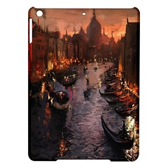 River Venice Gondolas Italy Artwork Painting Ipad Air Hardshell Cases by Simbadda