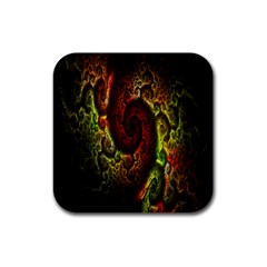Fractal Digital Art Rubber Coaster (square)