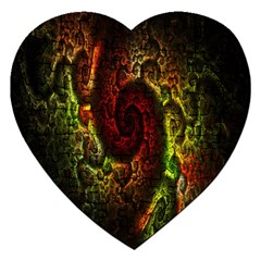 Fractal Digital Art Jigsaw Puzzle (heart) by Simbadda