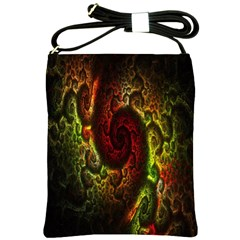 Fractal Digital Art Shoulder Sling Bags by Simbadda