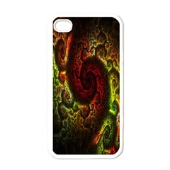 Fractal Digital Art Apple Iphone 4 Case (white) by Simbadda