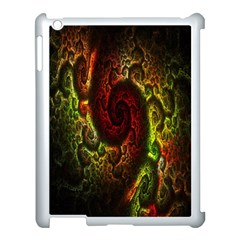 Fractal Digital Art Apple Ipad 3/4 Case (white) by Simbadda