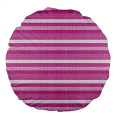 Lines Large 18  Premium Round Cushions by Valentinaart