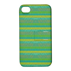 Lines Apple Iphone 4/4s Hardshell Case With Stand