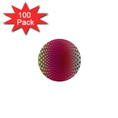 Abstract Circle Colorful 1  Mini Magnets (100 Pack)
