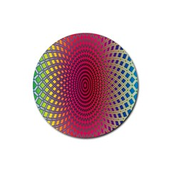 Abstract Circle Colorful Rubber Coaster (round)  by Simbadda