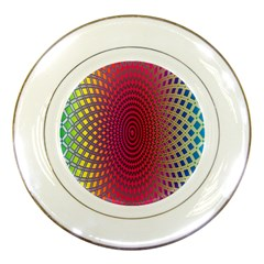 Abstract Circle Colorful Porcelain Plates