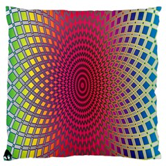 Abstract Circle Colorful Large Flano Cushion Case (one Side)