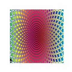 Abstract Circle Colorful Small Satin Scarf (square) by Simbadda