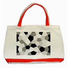 Pentagons Decagram Plain Triangle Classic Tote Bag (red) by Alisyart