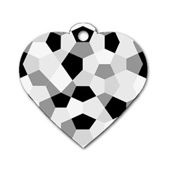 Pentagons Decagram Plain Triangle Dog Tag Heart (two Sides) by Alisyart