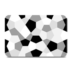 Pentagons Decagram Plain Triangle Plate Mats by Alisyart