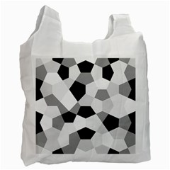 Pentagons Decagram Plain Triangle Recycle Bag (one Side) by Alisyart