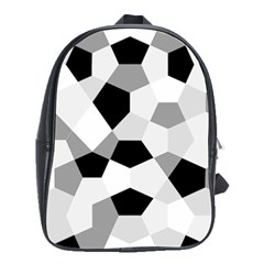 Pentagons Decagram Plain Triangle School Bags(large)  by Alisyart