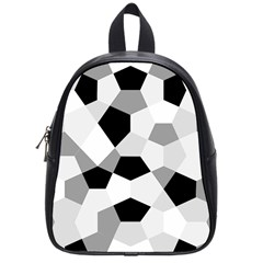 Pentagons Decagram Plain Triangle School Bags (small)