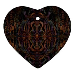 Digital Art Heart Ornament (two Sides)