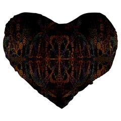 Digital Art Large 19  Premium Heart Shape Cushions by Simbadda