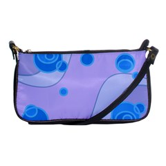 Purple Wave Circle Blue Shoulder Clutch Bags