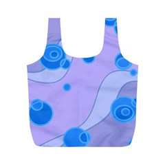 Purple Wave Circle Blue Full Print Recycle Bags (m)