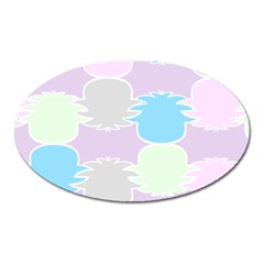 Pineapple Puffle Blue Pink Green Purple Oval Magnet