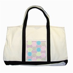Pineapple Puffle Blue Pink Green Purple Two Tone Tote Bag