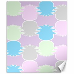 Pineapple Puffle Blue Pink Green Purple Canvas 20  X 24