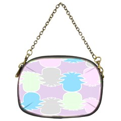 Pineapple Puffle Blue Pink Green Purple Chain Purses (two Sides)