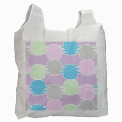 Pineapple Puffle Blue Pink Green Purple Recycle Bag (two Side)