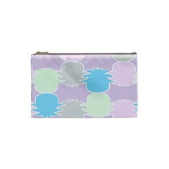 Pineapple Puffle Blue Pink Green Purple Cosmetic Bag (small)
