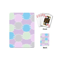 Pineapple Puffle Blue Pink Green Purple Playing Cards (mini)