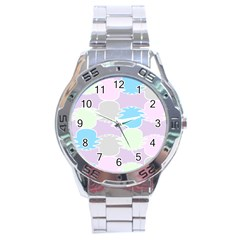 Pineapple Puffle Blue Pink Green Purple Stainless Steel Analogue Watch