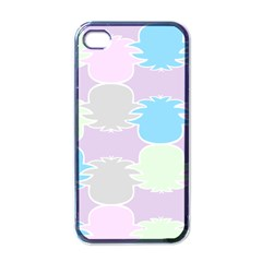 Pineapple Puffle Blue Pink Green Purple Apple Iphone 4 Case (black)