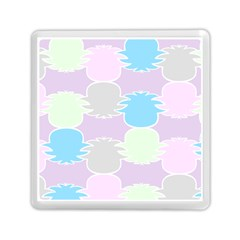 Pineapple Puffle Blue Pink Green Purple Memory Card Reader (square)