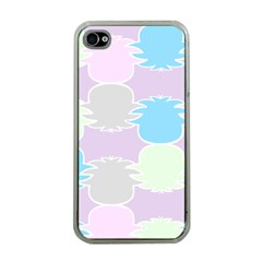 Pineapple Puffle Blue Pink Green Purple Apple Iphone 4 Case (clear)