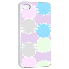 Pineapple Puffle Blue Pink Green Purple Apple Iphone 4/4s Seamless Case (white) by Alisyart