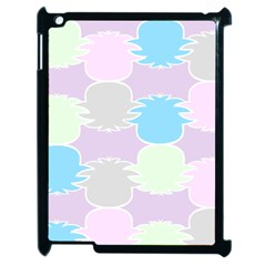 Pineapple Puffle Blue Pink Green Purple Apple Ipad 2 Case (black)