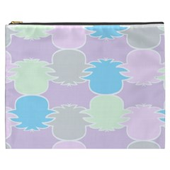 Pineapple Puffle Blue Pink Green Purple Cosmetic Bag (xxxl)