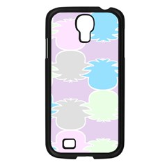 Pineapple Puffle Blue Pink Green Purple Samsung Galaxy S4 I9500/ I9505 Case (black) by Alisyart
