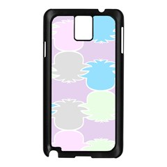 Pineapple Puffle Blue Pink Green Purple Samsung Galaxy Note 3 N9005 Case (black) by Alisyart