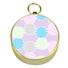 Pineapple Puffle Blue Pink Green Purple Gold Compasses by Alisyart